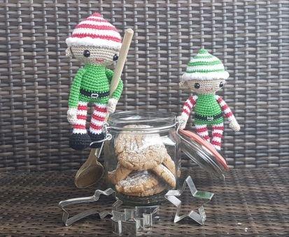 Weihnachtself Keks