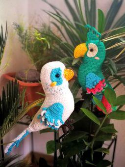 """Exotische Vögelchen """"Papagei und Wellensittich"""""""