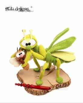 Gottesanbeterin mit Wespe