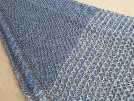 Strickanleitung Blue Mixed Tuch und Stirnband