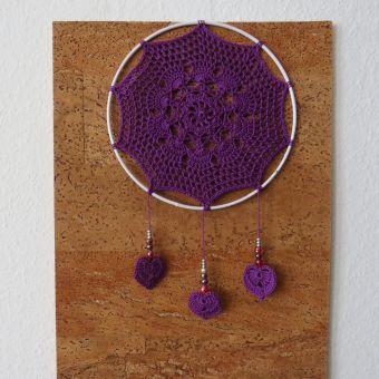 Traumfänger Violet Heart Nr. 2