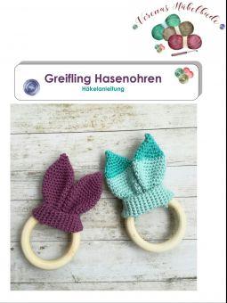 Handmade (neu) Beißring Greifling Amigurumi häkeln Hasenohren in ... | 340x255