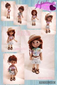 Puppe Alessia im Sommer-Outfit