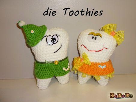 die Toothies-Kinder, der Eckzahn, ein Zahn zum Kuscheln,