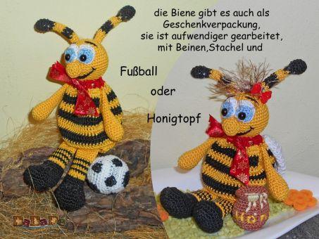 Adventskalender Tiere, Biene  - gehäkelt von Dadade