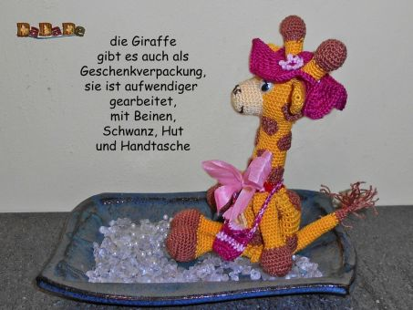 Adventskalender Tiere, Giraffe  - gehäkelt von Dadade