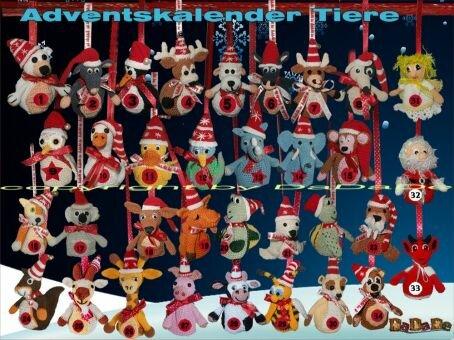 Adventskalender Tiere, Maus - gehäkelt von Dadade
