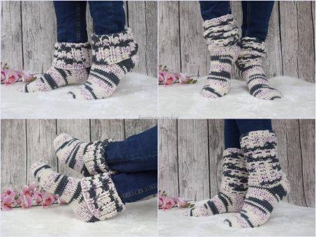 Häkelanleitung Socken, Kuschelsocken