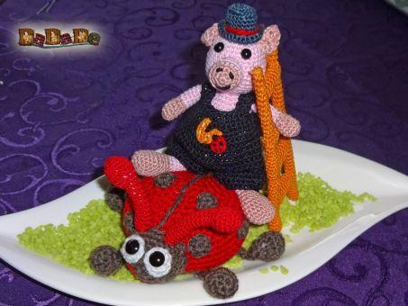 der Marienkäfer hat Schwein, Dekoration für Silvester