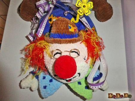 Der lustige Clown Pepino, der Tür-Kranz