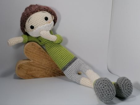 Häkelanleitung Erwin 20/21 mit Mundschutz Puppe Junge