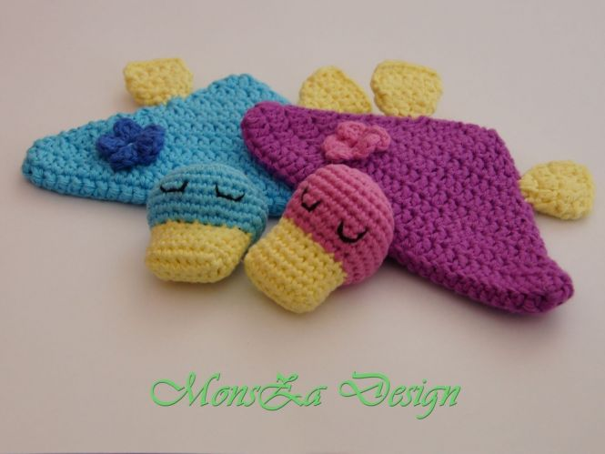 Monsza Design Mini Schnuffeltuch Ente Mia Für Babys Und