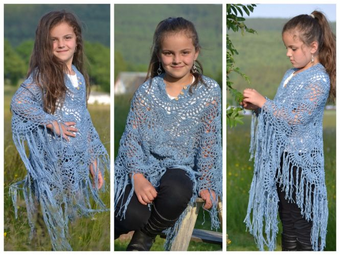 Leomaxi Crochet Lina Poncho Häkeln Toller Musterponcho Mit V