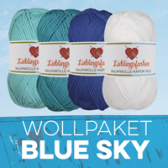 Sommer Wolle 4er Set Blue Sky