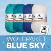 Sommer Wolle 4er Set Blue Sky