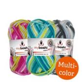 buntes Häkel- und Strickgarn myboshi No.1 multicolor Wolle