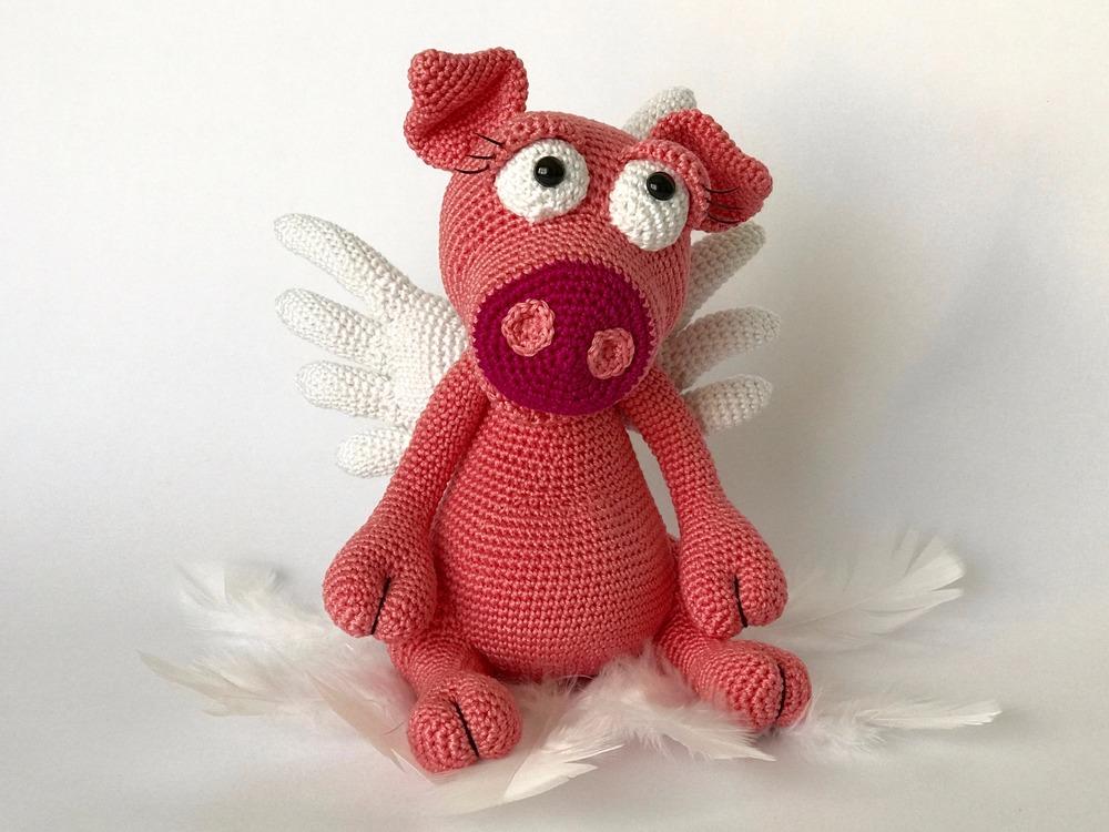 By Diana Handmade - Schweinchen Rosalie das Engelchen und