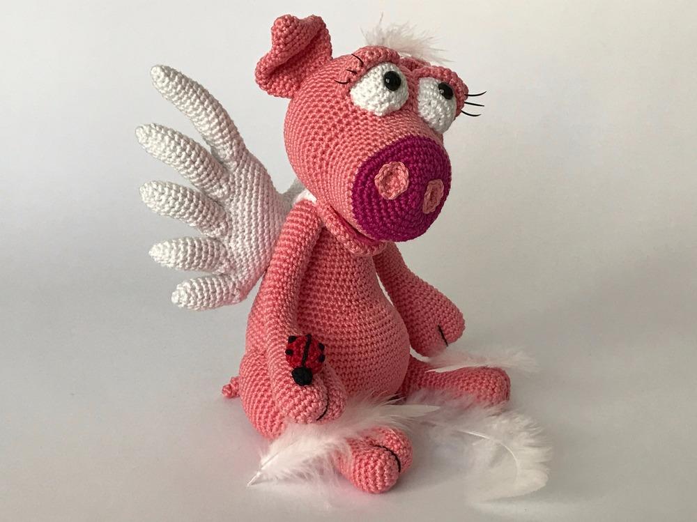 Schweinchen Rosalie das Engelchen und Glücksbringer